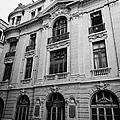 side of Santiago Stock Exchange building Chile by Joe Fox