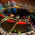 Singapore City Skyline by Luciano Mortula