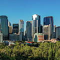 Skylines In A City, Bow River, Calgary by Panoramic Images