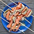 Smoked Salmon And Grilled Artichoke by Tom Gowanlock