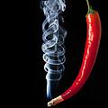 Smoking Red Hot Chilli Pepper  by Matthew Gibson