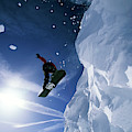 Snowboarding In Lake Tahoe by Corey Rich