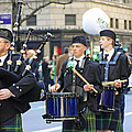 Some Bagpipers Marching In The 2009 New York St. Patrick Day Parade by James Connor