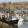 South Bristol And Fishing Boats On The Coast Of Maine by Keith Webber Jr