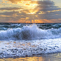 Splash Sunrise by Debra and Dave Vanderlaan