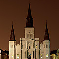 St Louis Cathedral At Night by Susie Hoffpauir