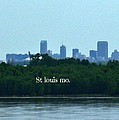 St Louis From Chain Of Rocks Bridge by Kelly Awad