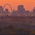 St Louis Skyline And Arch by Garry McMichael