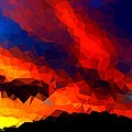 Stained Glass Sunset by Bruce Nutting