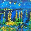 Starry Night Bridge by Eric  Schiabor