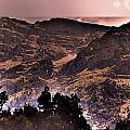 Starry Night Landscape by Augusta Stylianou