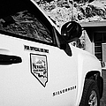 State Park Ranger Vehicles At The Valley Of Fire State Park Nevada Usa by Joe Fox