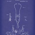 Stethoscope 1882 Patent Art Blue by Prior Art Design