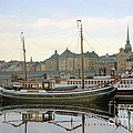 Stockholm City Harbor Sunrise by Ted Pollard
