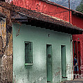 Street Scene La Antigua by Thomas R Fletcher