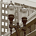 Streetlights - Lansing Michigan by Frank Romeo