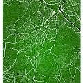 Stuttgart Street Map - Stuttgart Germany Road Map Art On Colored by Jurq Studio