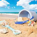 Summer Beach by Amanda Elwell