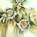 Sunflowers V by Madeleine Holzberg