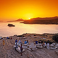 Sunset At Poseidon Temple by George Atsametakis