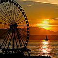 Sunset Ferris Wheel by Paul Fell