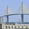 Sunshine Skyway Bridge I Tampa Bay Florida Usa by Sally Rockefeller