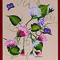 Sweet Peas And Butterflies by Barbara Griffin