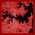 Sydney Street Map - Sydney Australia Road Map Art On Color by Jurq Studio