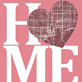Tampa Street Map Home Heart - Tampa Florida Road Map In A Heart by Jurq Studio