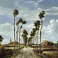 The Avenue At Middelharnis by Meindert Hobbema