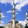 The Azadi Mosque At Ashgabat In Turkmenistan by Robert Preston