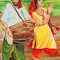 The Dhol Player by Sarabjit Singh