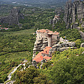 The Holy Monastery Of Rousanou Meteora Greece  by Ivan Pendjakov
