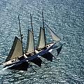 Three Masted Schooner by Richard Sherman