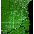 Thunder Bay Street Map - Thunder Bay Canada Road Map Art On Colo by Jurq Studio