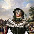 Tibetan Terrier Art Canvas Print by Sandra Sij