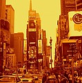 42nd Street And Times Square Manhattan by Monique's Fine Art