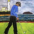 Tom Watson Turnberry 2009 by Lesley Giles
