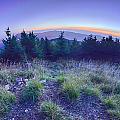 Top Of Mount Mitchell After Sunset by Alex Grichenko