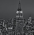 Top Of The Rock Bw by Susan Candelario