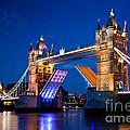 Tower Bridge In London Uk At Night by Michal Bednarek