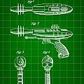 Toy Ray Gun Patent 1952 - Green by Stephen Younts