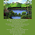 Twin Ponds And 23 Psalm On Green by Barbara Griffin