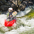Two Whitewater Kayaks by Les Palenik