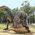 Tyrannosaurus Rex Dinosaurs by Roger Harris