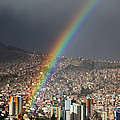 Urban Rainbow La Paz Bolivia by James Brunker