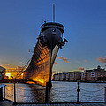 Uss Wisconsin At Nauticus by Jerry Gammon