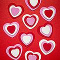 Valentines Day Hearts by Elena Elisseeva