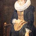 Van Dyck's Portrait Of A Flemish Lady by Cora Wandel