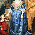 Van Dyck's Queen Henrietta Maria With Sir Jeffrey Hudson by Cora Wandel